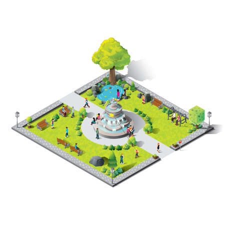 mobilephones: Isometric amusement park