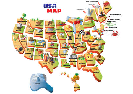 virginia: Map of usa