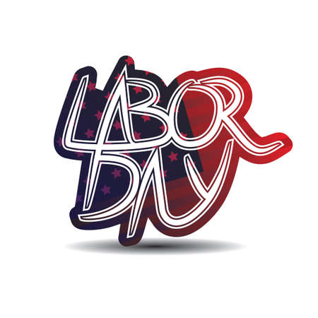 labor day: Labor day text Illustration