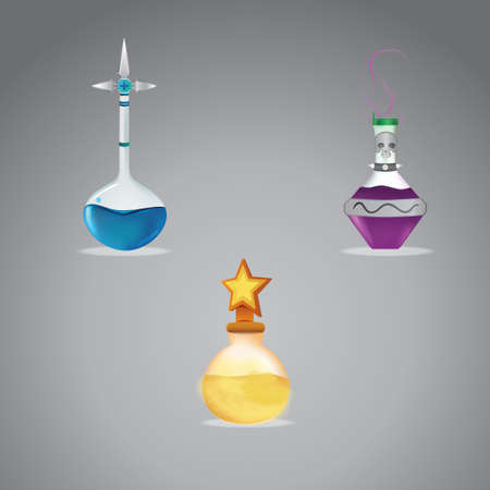 venomous: Set of magic potion Illustration