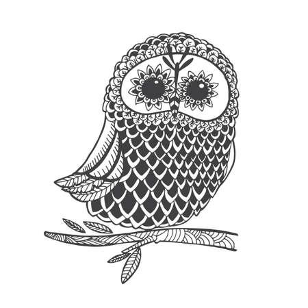 intricate owl design