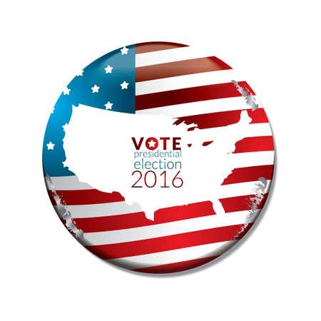 election vote: US election vote badge