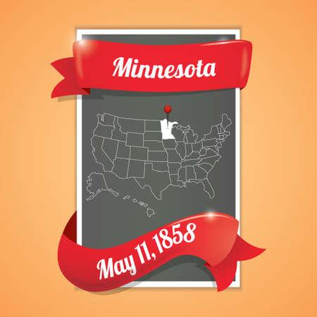 minnesota: Minnesota state map poster