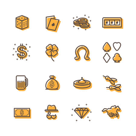 gambling stone: Collection of casino icons