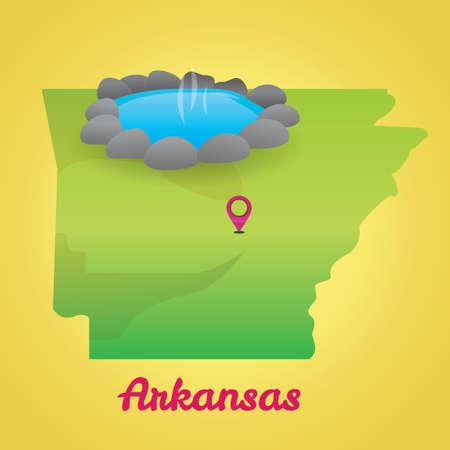 アーカンソー州の地図