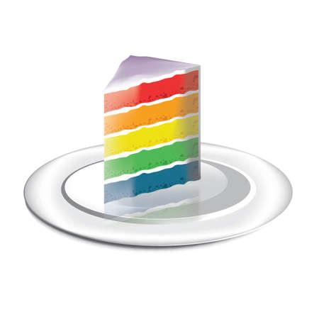 szivárvány: Rainbow cake