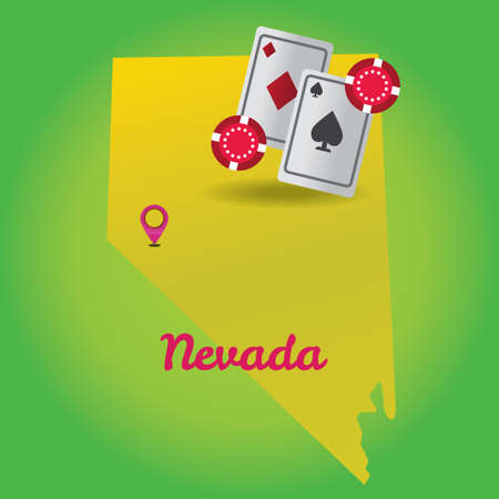 nevada: Map of nevada state