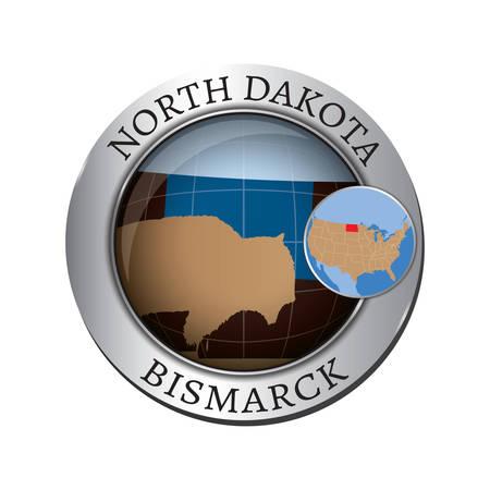 dakota: North dakota state buffalo badge