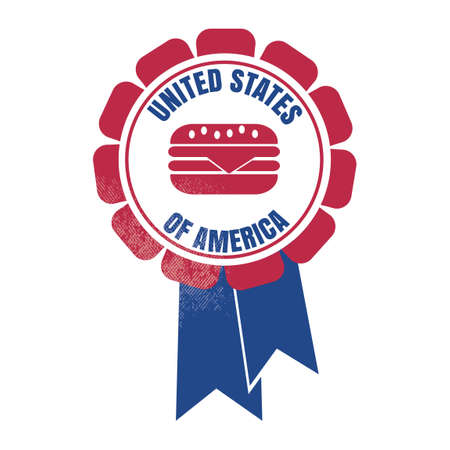 rosette: USA rosette Illustration