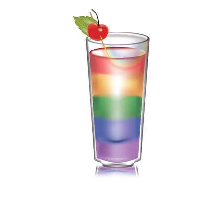 rainbow cocktail: Rainbow cocktail