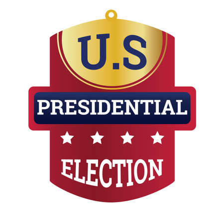 presidential: USA presidential election label Illustration