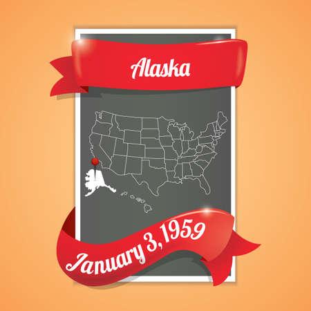 alaska: Alaska state map poster