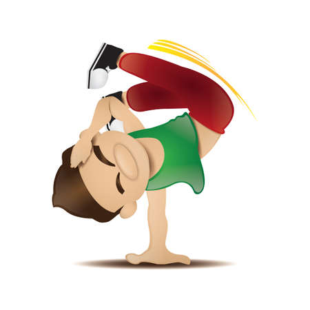 breakdance: Man with breakdance pose Illustration