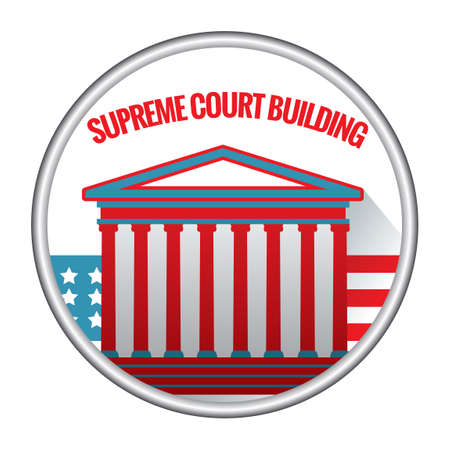 supreme: Supreme court building Illustration