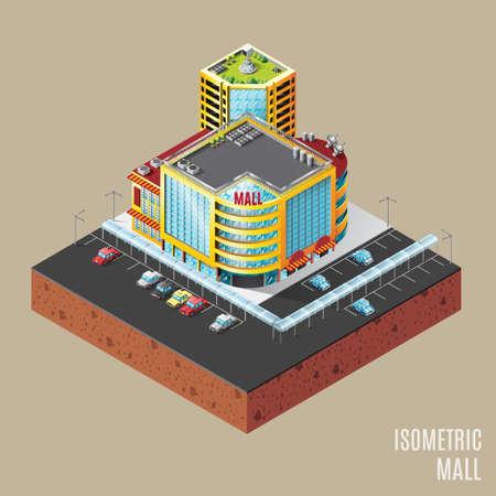 shopping mall: Isometric mall