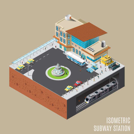 subway station: Isometric subway station Illustration