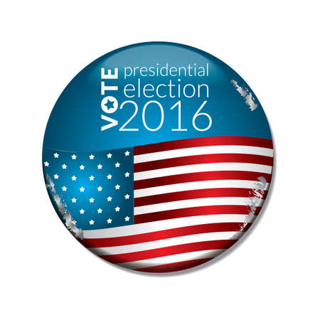 vote: US election vote badge