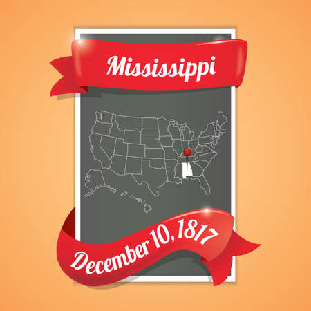 10th: Mississippi state map poster
