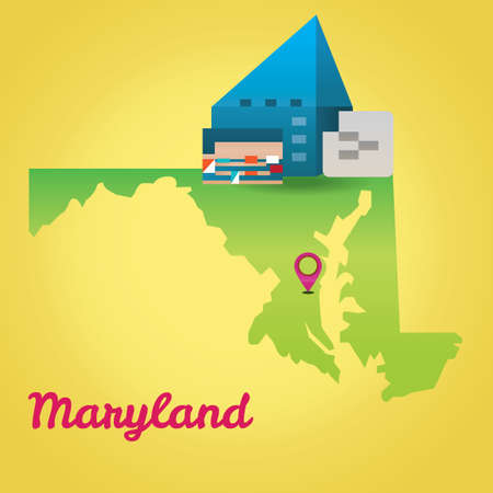 baltimore: Map of maryland state