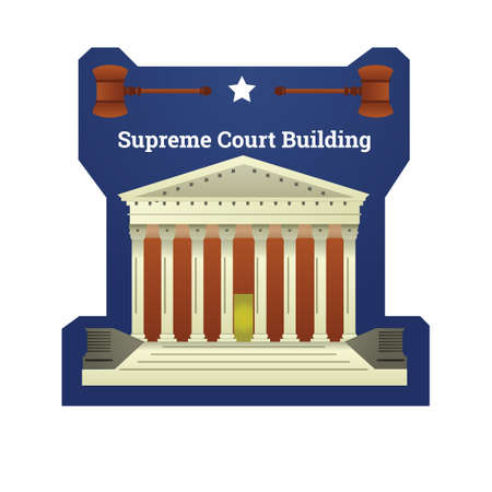 Supreme court building 矢量图像