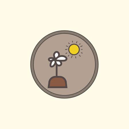 sunrays: Flower plant Illustration