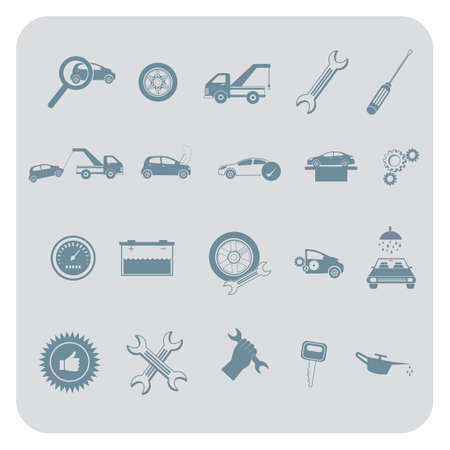 servicing: set of automobile items