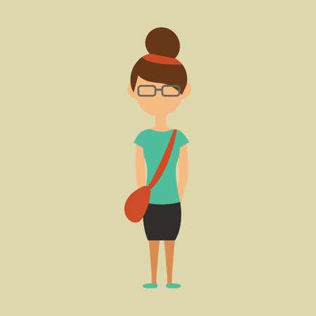 sling: Girl with sling bag Illustration