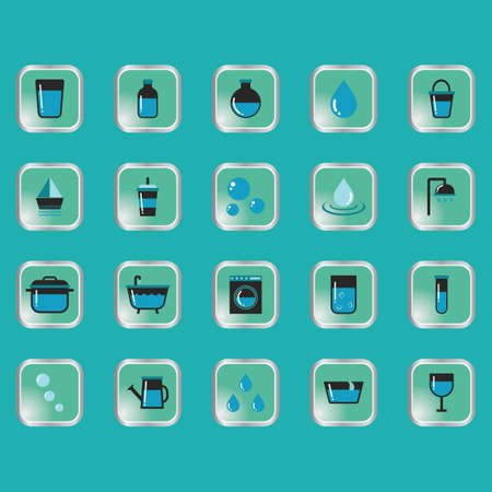 quench: Set of water related icons