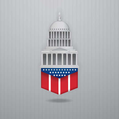 the capitol: USA capitol icon Illustration