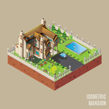 mansion: Isometric mansion