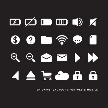 web icons: Web and mobile icons Illustration