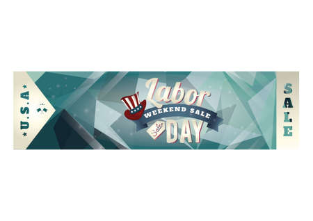 retail sales: Labor day sale banner
