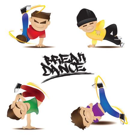Collection d'homme dans différentes poses de danse
