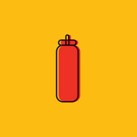 squeeze: Tomato squeeze bottle Illustration