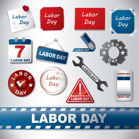 assorted: Assorted labor day set
