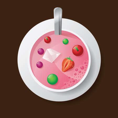 icecubes: Milkshake Illustration