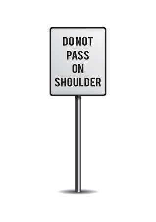 no pase: No pase en señal de hombro