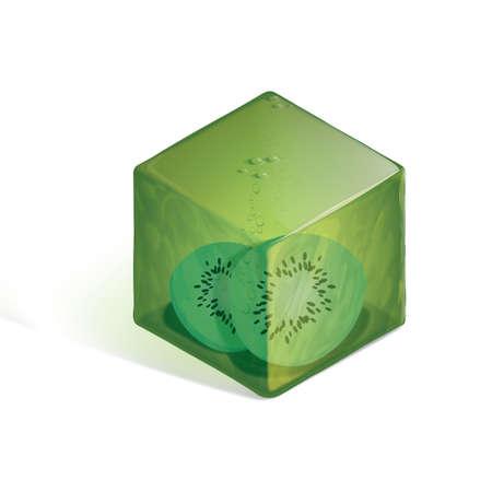 kiwi: Isometric kiwi cocktail