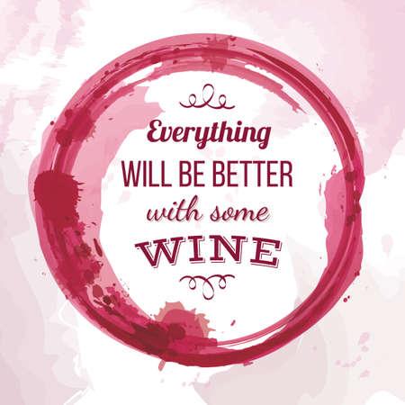 Quote on wine Vectores