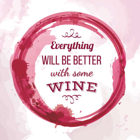 Quote on wine Illustration
