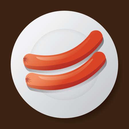 sausages: Sausages Illustration