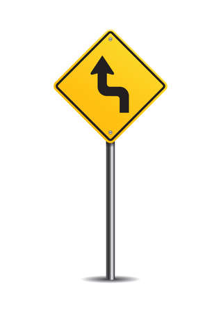 reverse: Left reverse turn sign