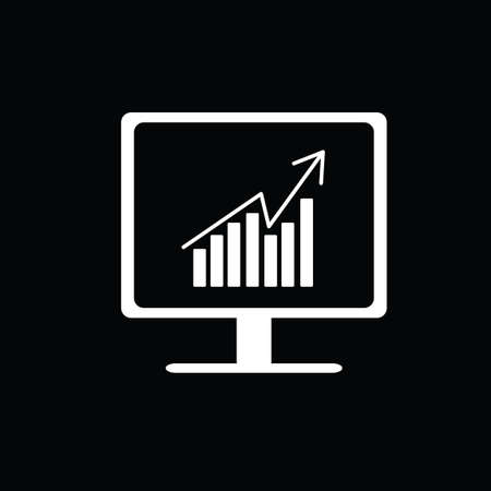 stockmarket chart: Business graph on monitor screen