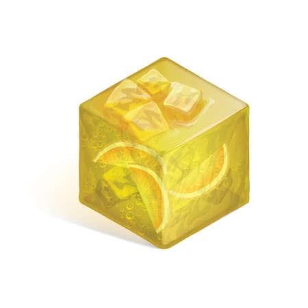 punch: Isometric orange punch