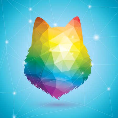 rainbow colors: Bear in rainbow colors Illustration