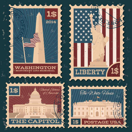 monuments: Collection of usa monuments postal stamps
