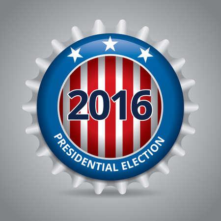 Presidential election badge Illustration