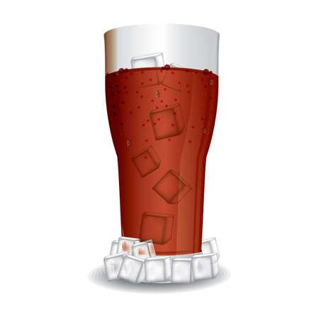 cubos de hielo: Cola con cubitos de hielo