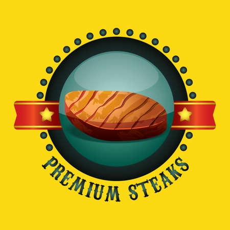 beef steak: Beef pegatina carne