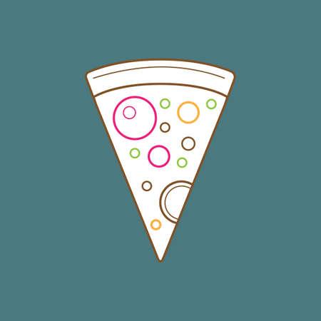 cheesy: Slice of pizza